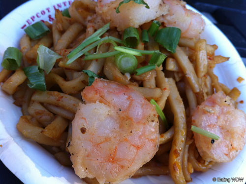 ... China's Black Pepper Shrimp with Sichuan Noodles | Eating WDW