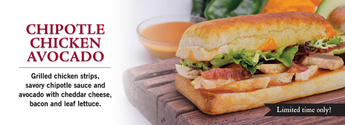 Chipotle Grilled Chicken With Avocado Sandwich Recipe — Dishmaps