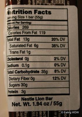 Aero Chocolate Nutrition Facts