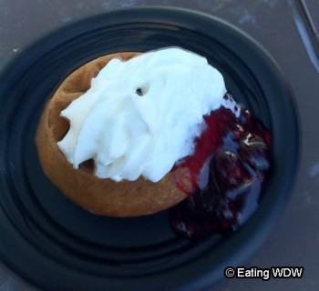 2010 Freshly Baked Waffle with Berry Compote and Whipped Cream