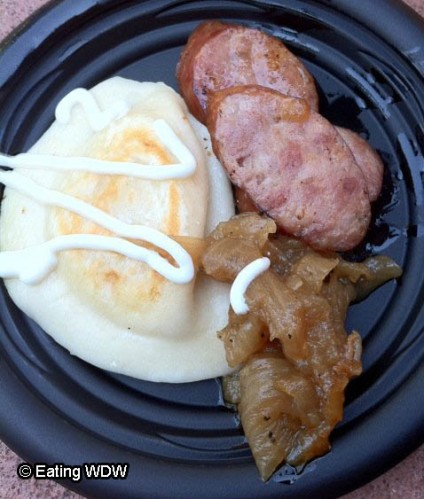 2010 Kielbasa and Potato Pierogie with Caramelized Onions and Sour Cream