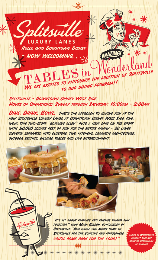 disney dining devise tables in wonderland
