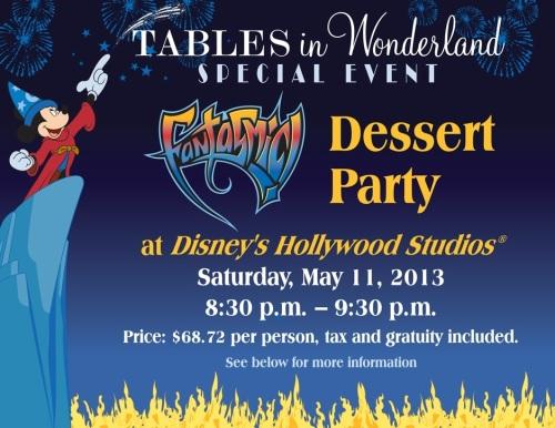 Tables in Wonderland Special Event - Fantasmic! Dessert Party