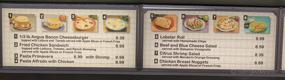 Tomorrowland terrace s fried chicken sandwich eating wdw for Terrace restaurant menu