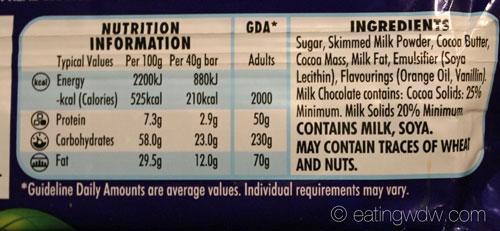 terrys-chocolate-orange-nutrition