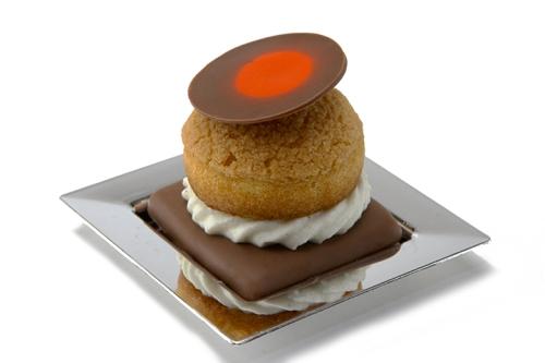Orange Cream Filled Puff