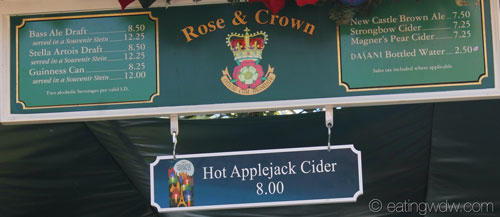 holidays-around-the-world-rose-and-crown-beer-stand-hot-applejack-cider-menu-120713