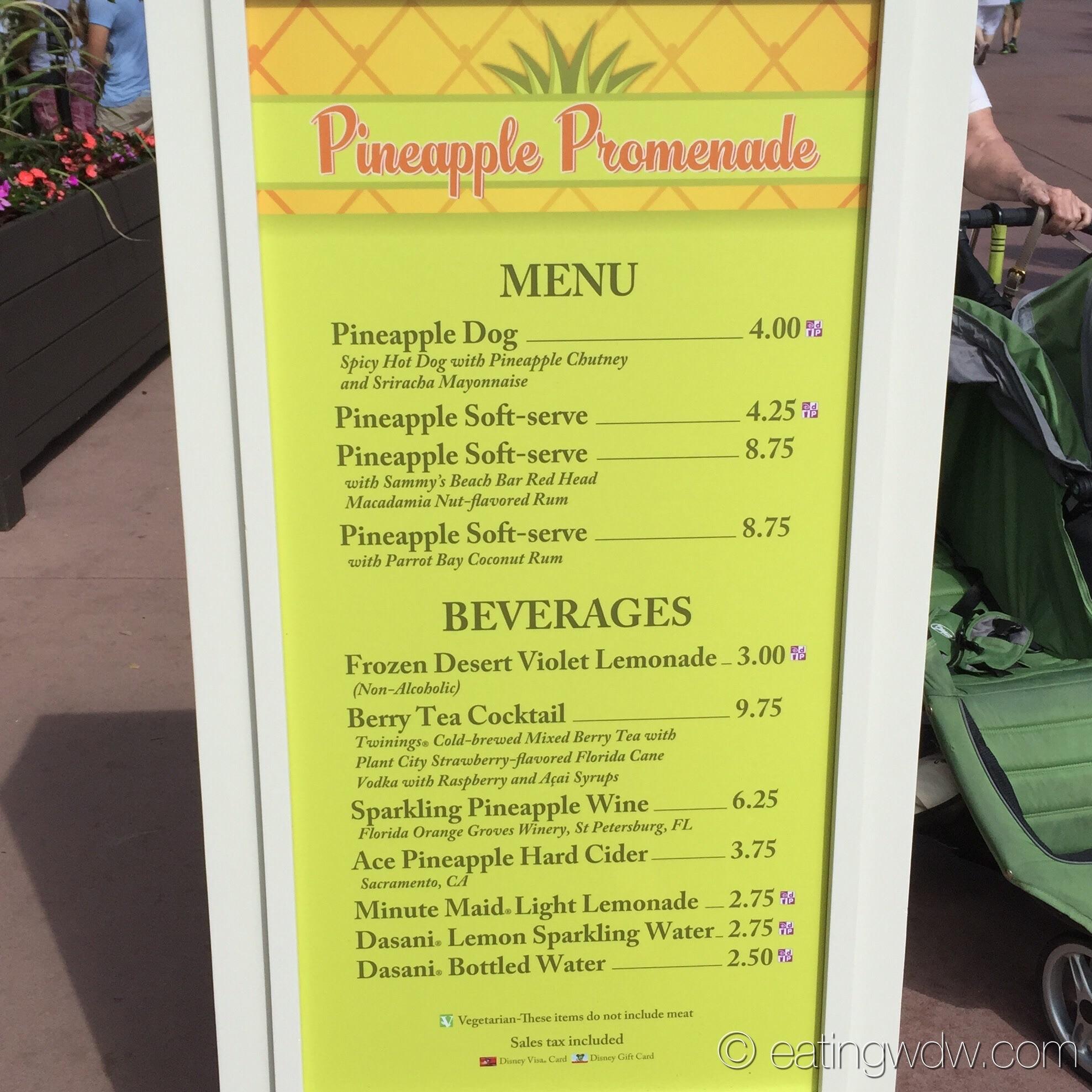 2015 epcot international flower & garden festival menu prices