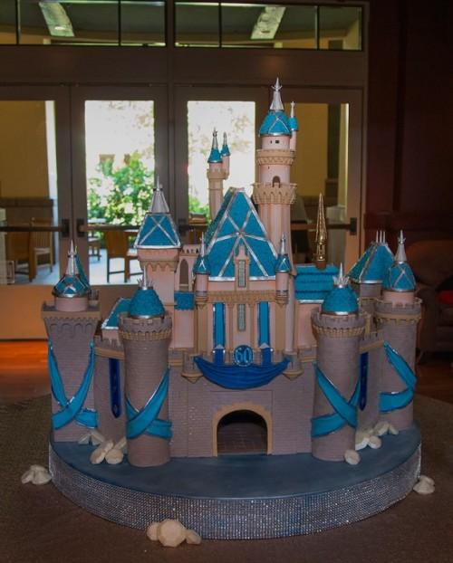 grand-californian-diamond-celebration-centerpiece-sleeping-beauty-castle